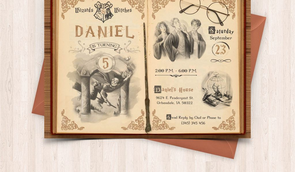 picture regarding Free Printable Harry Potter Birthday Cards identify Birthday Invites in the direction of Print at Dwelling Harry Potter Birthday