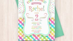 Birthday Invitations to Print at Home Printable Sprinkle Birthday Invitations Free Thank You