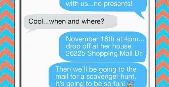 Birthday Invitations Via Text Message Free Lijicinu