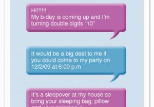 Birthday Invitations Via Text Message Party At Minted Com