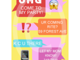 Birthday Invitations Via Text Message Text Message Birthday Invite for 7 00 Invitations