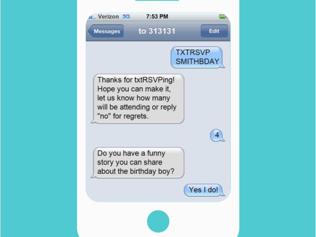 Birthday Invitations Via Text Message Txtrsvp Sms Rsvp