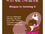 Birthday Invitations with Photo Make Your Own Make Your Own Sundae Birthday Invitation Zazzle