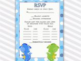 Birthday Invitations with Rsvp Cards Birthday Rsvp Cards Notes Polka Dots Green Blue Dragon Baby