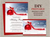 Birthday Invitations with Rsvp Cards Items Similar to Christmas Party Invitation with Rsvp Card