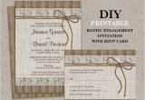 Birthday Invitations with Rsvp Cards Rustic Engagement Party Invitation with Rsvp Card Diy