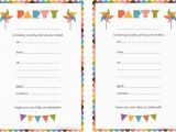 Birthday Invite Cards Free Printable Blank Birthday Invitations for Boys Doyadoyasamos Com