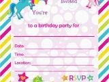Birthday Invite Cards Free Printable Free Printable Golden Unicorn Birthday Invitation Template