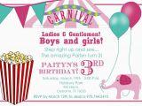 Birthday Invite Ecards Best Carnival Birthday Invitations Templates Egreeting