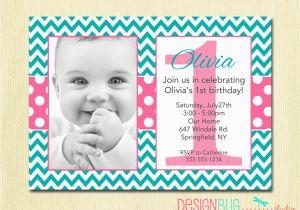 Birthday Invite for 2 Year Old Chevron and Polka Dots Girl 39 S Birthday Invitation 1 2