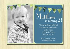 Birthday Invite for 2 Year Old First Birthday Baby Boy Invitation 1st 2nd 3rd 4th Birthday