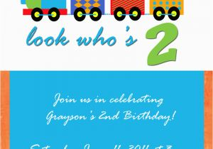 Birthday Invite for 2 Year Old Imprintalish Two Year Old Birthday Party