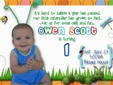 Birthday Invite Message for 1 Year Old First Birthday Party Invitation Ideas Bagvania Free
