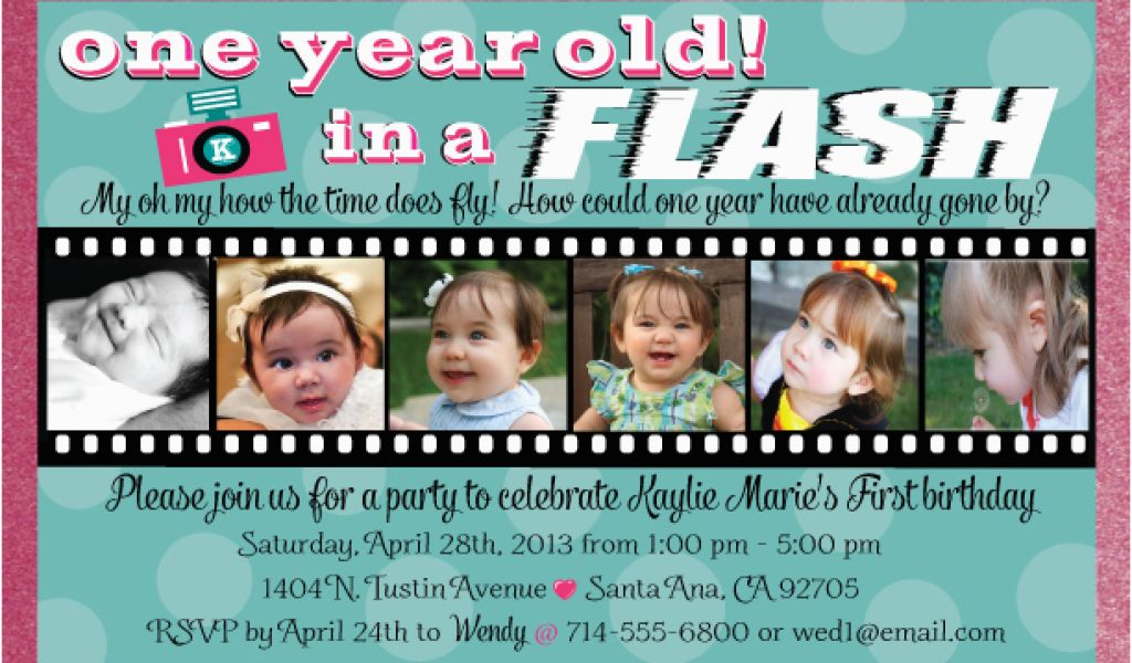 Birthday Invite Message For 1 Year Old Free One