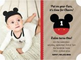 Birthday Invite Message for 1 Year Old Mickey Mouse Birthday Party Ideas Wording Activities