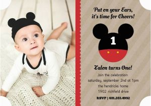 Birthday Invite Message For 1 Year Old Mickey Mouse Party Ideas Wording Activities