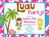 Birthday Invite Pictures 20 Luau Birthday Invitations Designs Birthday Party