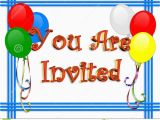 Birthday Invite Pictures Birthday Invitation Balloons Border Stock Illustration