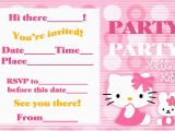 Birthday Invite Pictures Hello Kitty Birthday Invitation Bagvania Free Printable