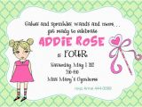 Birthday Invite Wording for 4 Year Old 4 Years Old Birthday Invitations Wording Free Invitation
