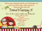 Birthday Invites for Boys Boys Sleepover Birthday Party Invitation by thebutterflypress