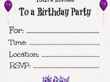 Birthday Invites Free Printable Free Printable Birthday Invitations for Kids