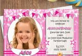 Birthday Invites with Photo 10 Personalised Girls Birthday Party Photo Invitations