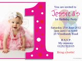 Birthday Invites with Photo Beautiful Ideas First Birthday Invitation Cards One Years