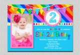 Birthday Invites with Photo Rainbow Birthday Invitation Rainbow Kids Birthday Invite 1st
