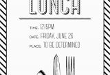 Birthday Lunch Invite Simple but Elegant Lunch Invitation Made by Me