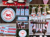 Birthday Party Decoration Packages Airplane Birthday Decorations Package by Tangerinepapershoppe