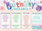 Birthday Party Decoration Packages Balloon Decoration Packages Cebu Nisartmacka Com