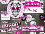 Birthday Party Decoration Packages Sugar Skull Birthday Party Decoration Package Cake toppers