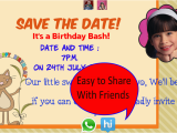 Birthday Party Invitation Apps Birthday Invitation with Photo android Apps On Google Play