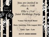Birthday Party Invitation Message for Adults Party Invitations Simple Design Joint Birthday Party