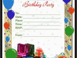 Birthday Party Invitation Templates Word 50 Printable Birthday Invitation Templates Sample Templates