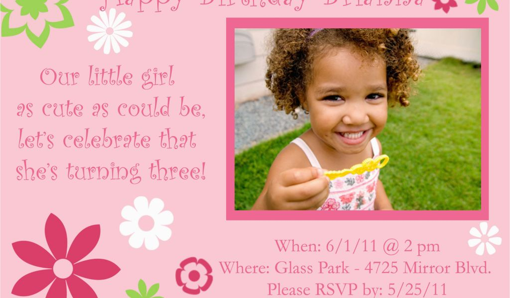 Download By SizeHandphone Tablet Desktop Original Size Back To Birthday Party Invitation Wording For 3 Year Old