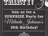 Birthday Party Invites for Adults Chalkboard Look Adult Birthday Party Invitation