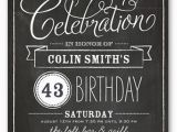 Birthday Party Invites for Adults Chalkboard Wishes Surprise Birthday Invitation Shutterfly