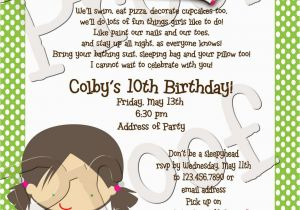 Birthday Party Poems For Invitations Cute Sleepover Poem Ava 39 S 10th Pinterest