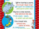 Birthday Party Poems for Invitations Dr Seuss Invitation for Second Birthday Birthdays