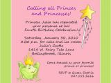 Birthday Party Poems for Invitations Princess themed Birthday Invitation Wording First