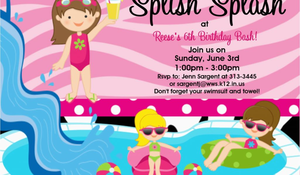 Download By SizeHandphone Tablet Desktop Original Size Back To Birthday Pool Party Invitation Wording