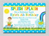 Birthday Pool Party Invitation Wording 18 Birthday Invitations for Kids Free Sample Templates