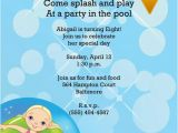 Birthday Pool Party Invitation Wording Girl or Boy Printable Swimming Pool Birthday Party Invitation