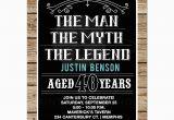 Birthday Present for 40 Years Old Man Man Myth Legend 40th Birthday Invitation 40 Year Old