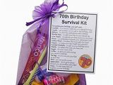 Birthday Present for 70 Man Smile Gifts Uk 70th Birthday Survival Kit Gift Amazon Co