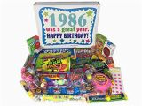 Birthday Present for 80 Year Old Male 1986 31st Birthday Gift Box Of Retro Nostalgic Candy