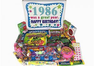 Birthday Present for 80 Year Old Male 1986 31st Birthday Gift Box Of Retro Nostalgic Candy
