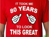 Birthday Present for 80 Year Old Man 80th Birthday Tshirt 80th Birthday Shirt Mens 80th Birthday